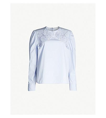 SANDRO 花卉刺绣棉质上衣 (天 + 蓝)