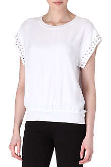 SANDRO Ecume studded top