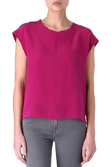 SANDRO Ebats silk top