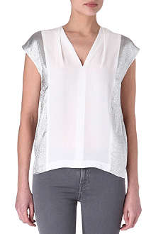 SANDRO Eclair silk top