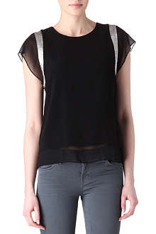 SANDRO Emerveillé chiffon detail top