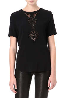 SANDRO Essentiel lace-insert top