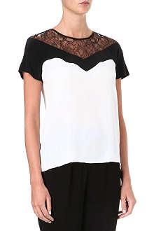 SANDRO Ebloui lace-panel top