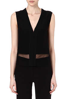 SANDRO Efficace mesh panel top
