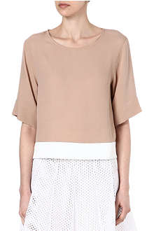 SANDRO Cut-out woven top