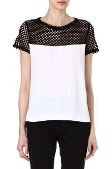 SANDRO Emeraude mesh detailed top