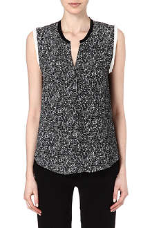 SANDRO Edimbourg printed sleeveless top