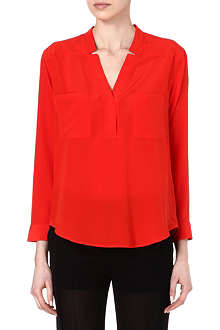SANDRO V-neck silk top