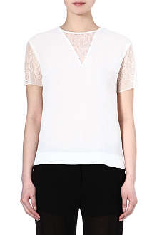 SANDRO Eprise lace short sleeve top