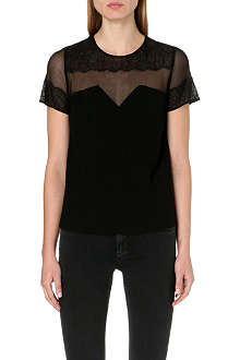 SANDRO Enola short-sleeved woven top