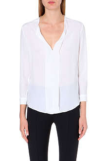 SANDRO Eagles silk top