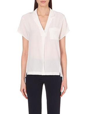SANDRO Short-sleeved silk blouse top