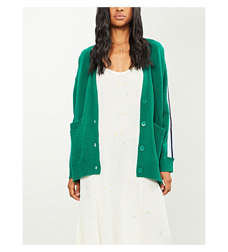 SANDRO Striped sleeves wool-blend cardigan (Garden