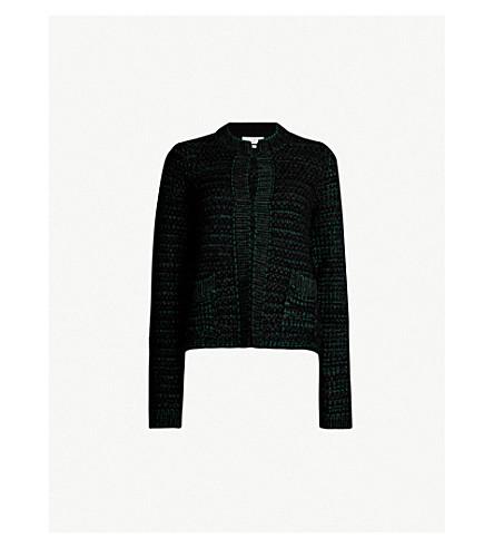 SANDRO 贴袋针织开襟衫 (黑色