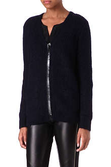 SANDRO Galipette zip-up cardigan