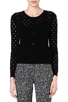 SANDRO Perforated knitted cardigan