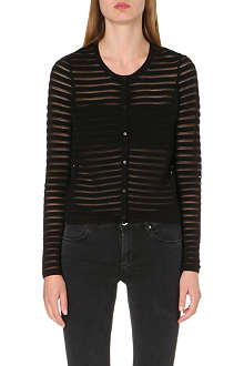 SANDRO Gloria sheer stripe cardigan