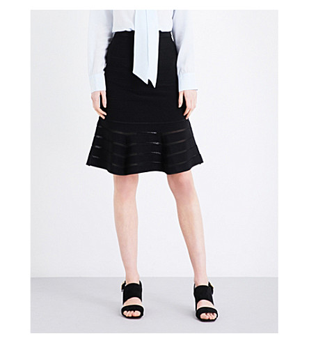 SANDRO Flared knitted skirt (Black