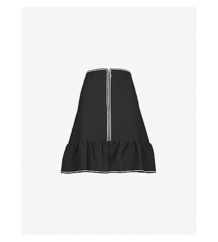 SANDRO Flared-hem woven skirt (Black