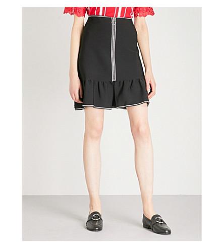 SANDRO Flared-hem woven skirt (Black