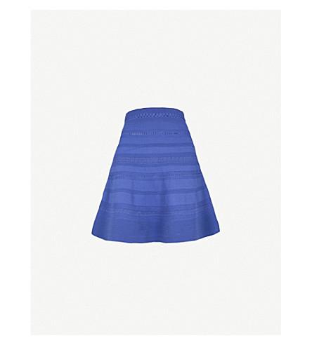 SANDRO A-line pointelle-knit mini skirt (Blue