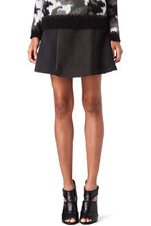 SANDRO Jade panelled skirt