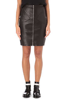SANDRO Joker leather skirt