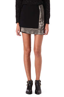SANDRO Joyau metallic-trim skirt