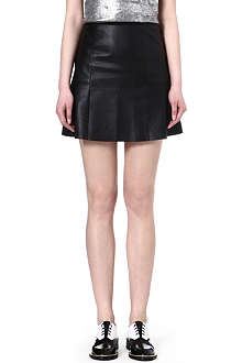 SANDRO Jeu leather skirt
