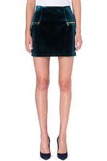 SANDRO Janet velvet mini skirt