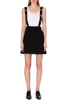 SANDRO Jodie crepe overall skirt