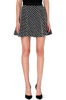 SANDRO Jet polka dot short skirt