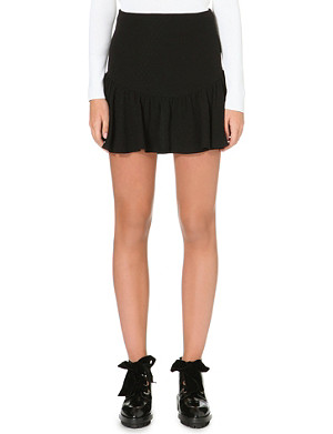 SANDRO Joline crepe mini skirt