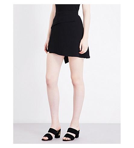 SANDRO A-line woven skirt (Black