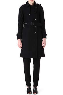 SANDRO Marion wool trench coat