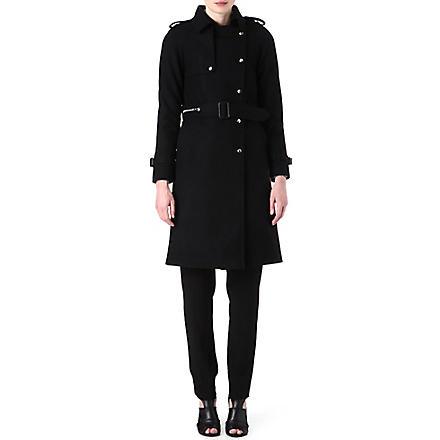 SANDRO Marion wool trench coat (Black