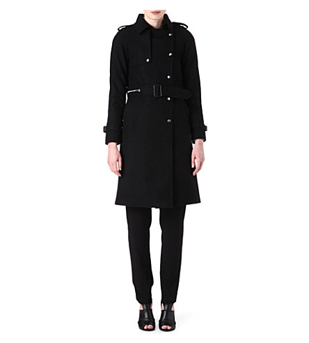 SANDRO Marion wool trench coat (Black