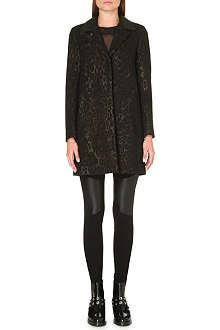 SANDRO Mellow leopard print coat