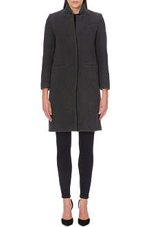 SANDRO Megan wool-blend overcoat