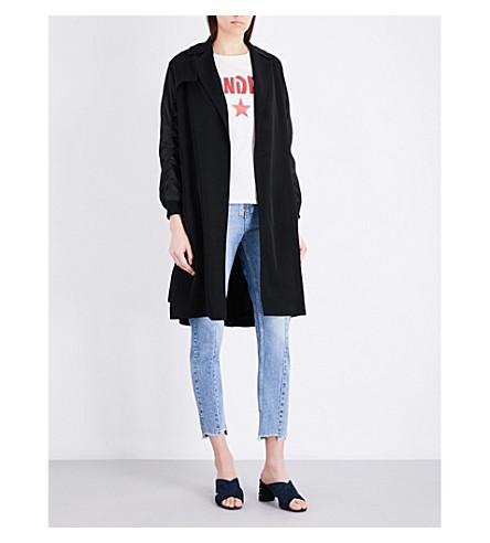 SANDRO Bomber-sleeve twill coat (Black