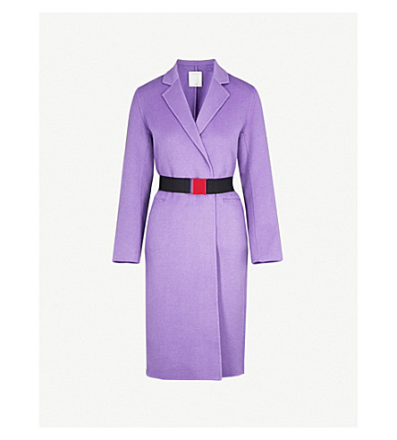 SANDRO Longline wool coat (Violet