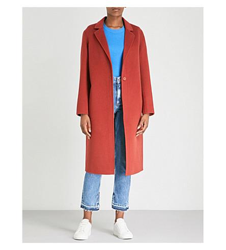 Longline wool-felt coat(M9644H)