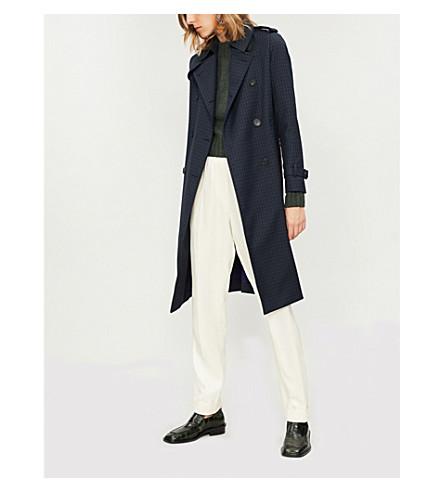 Rosale windowpane check woven coat(M9682H)