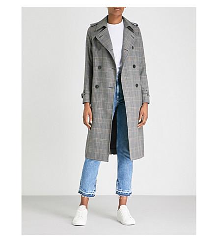 SANDRO 格子型梭织外套 (暴风雨