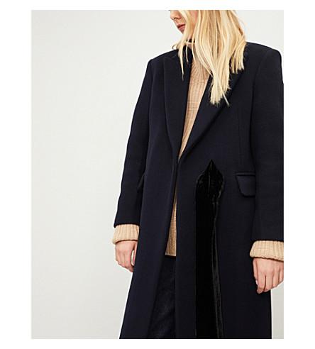 Peak-lapel wool-blend coat(M9701H)