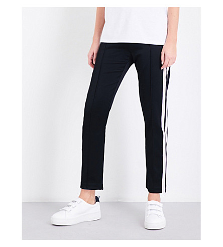 SANDRO Tapered jersey jogging bottoms (Black