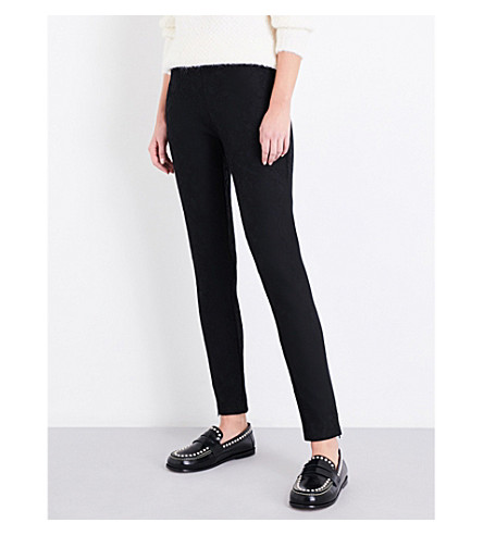SANDRO Skinny lace trousers (Black