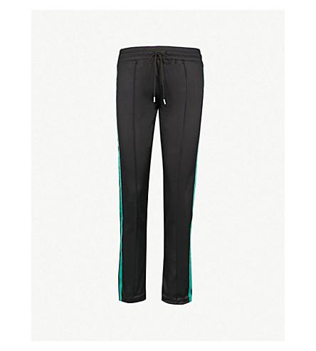 SANDRO 条纹板平纹针织面料和天鹅绒裤子 (黑色