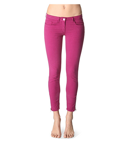 SANDRO Plus skinny low-rise jeans (Blackcurrant
