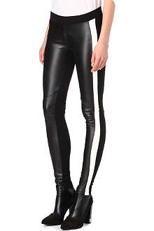 SANDRO Parfois panelled faux-leather leggings